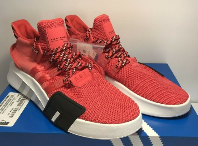 separation shoes 201a6 1042c adidas EQT Support ADV Mens CQ3004 Real Coral White Knit Running Shoes Size  12