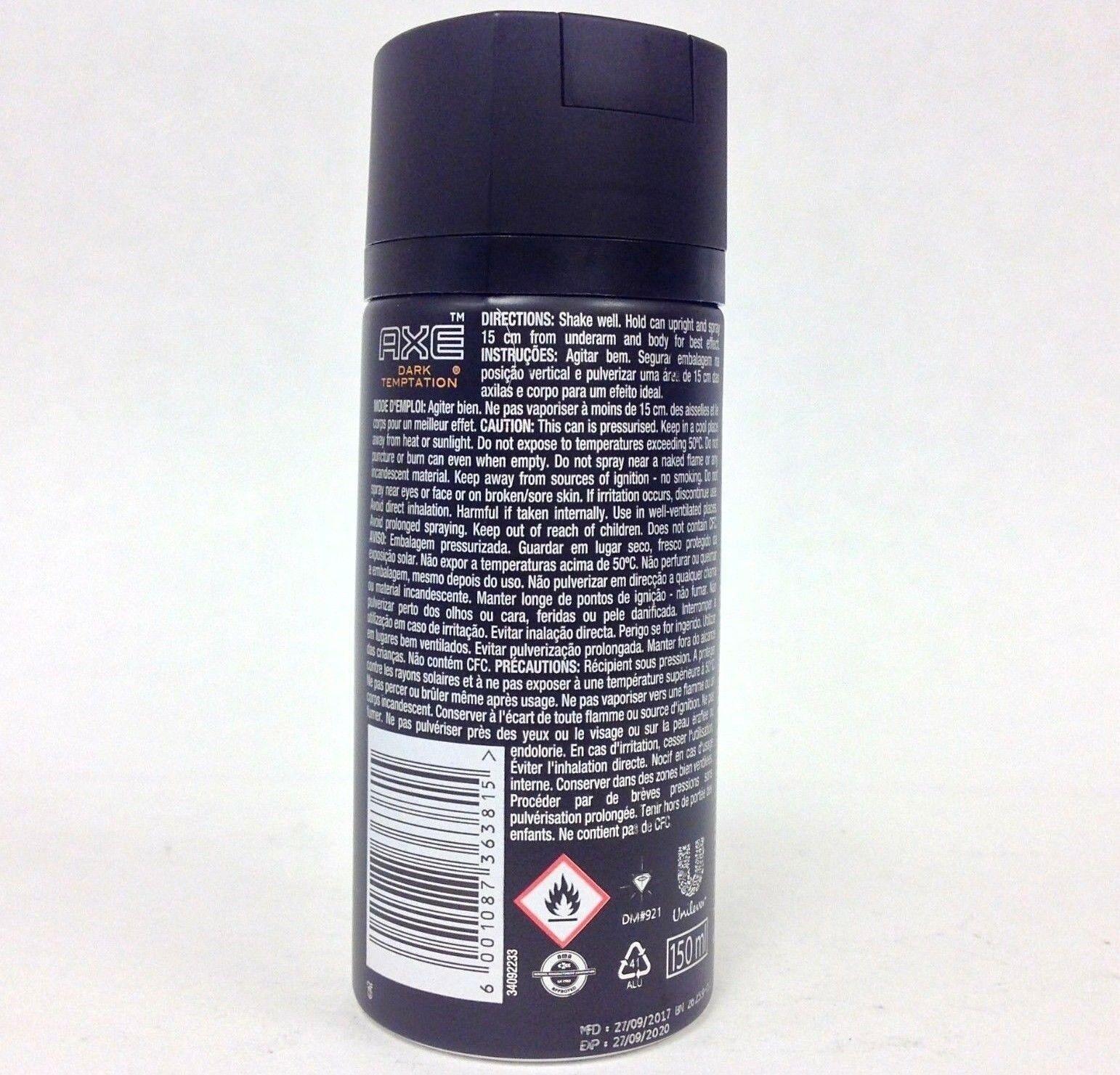 AXE Dark Temptation Deodorant Body Spray 5oz