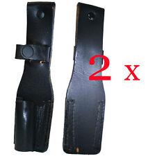 2x. Mammut Leder Jagdmesser Messertasche Messerscheide Messeretui schwarz lang