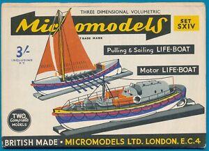Micromodels-Original-old-set-S-XIV-2-Life-boats