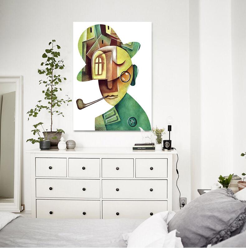 3D Pfeife Der Mann 552 Fototapeten Wandbild BildTapete Familie AJSTORE DE