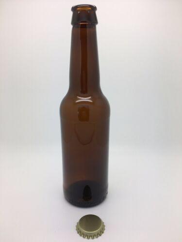 Homebrew Incl couronnes en or cidre Verre Ambre Bouteilles de bière 330 ml-bière