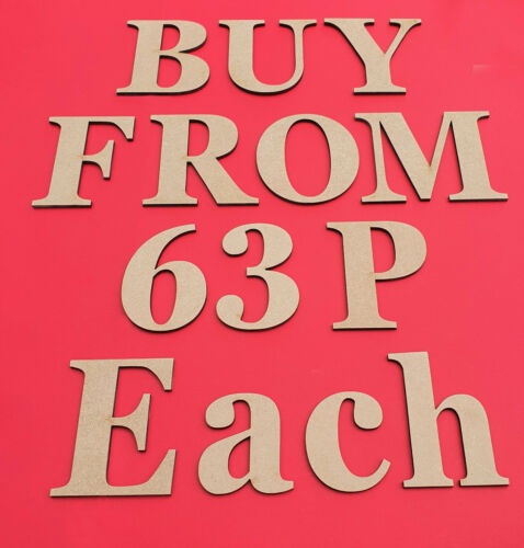 Wooden Letters Large MDF Georgia Bold Big 3-30cm 3mm Thick Signs Art Craft Decor