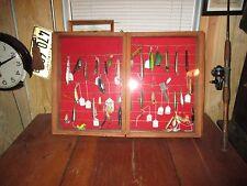 Vintage Fishing Lure Display Case Cabinet