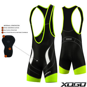 Pro-Mens-Cycling-Bib-Short-Bib-Tights-Shorts-Coolmax-Padding-Cycle-Bike-Black
