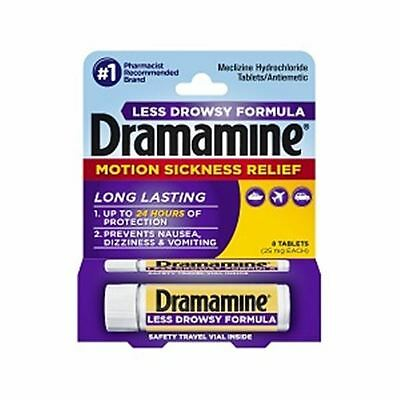 Dramamine Less Drowsy Formula Tablets 8 Tablets