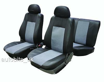 FULL SEAT COVERS SET PROTECTORS GREY BLACK FOR VAUXHALL CORSA ASTRA VECTRA