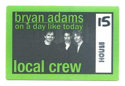 Bryan Adams - on a day like today - Konzert-Satin-Pass Local Crew House