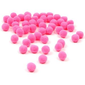 Pompons-Pompon-30mm-20stk-Bommel-Naehen-Tilda-Basteln-Borte-Pink-Rund-BEST-DEK95
