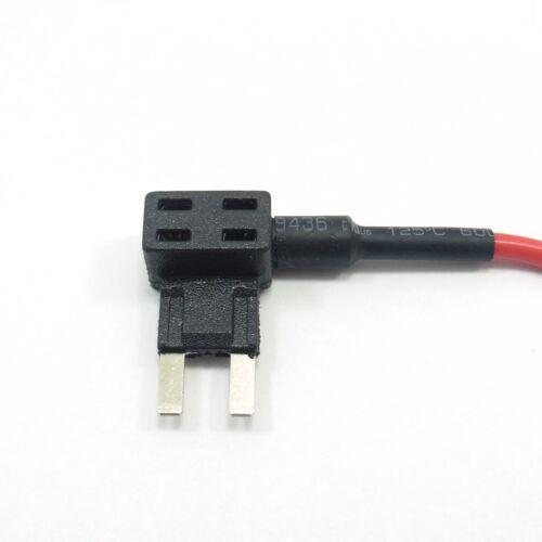 Mini Piggyback Tap Blade Fuse Holder ADD Circuit and FUSE Car Motor ACU