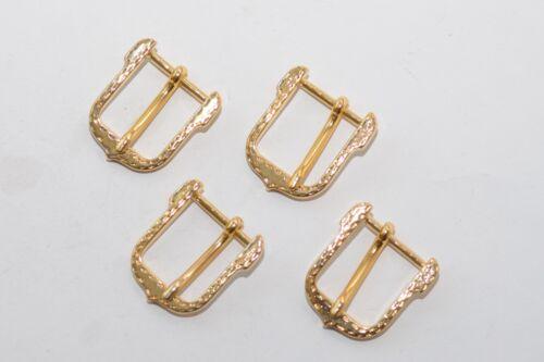 4x kleine Gürtelschnalle Schließe Schnalle aus den 80ern für 20 mm Breite Gold