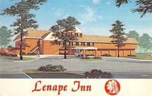 LENAPE-INN-West-Chester-Pennsylvania-Roadside-ca-1960s-Vintage-Postcard