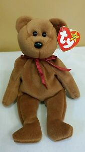 Ty Beanie Baby TEDDY the Brown Bear  4050 11-28-1995 w Tag Errors ... 6491d26f27a