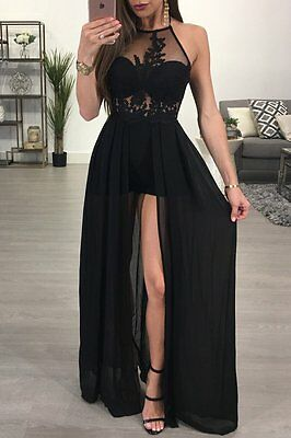 Summer Boho Maxi Dress Sexy Long Chiffon Dress Evening Party Cocktail Dress Lace