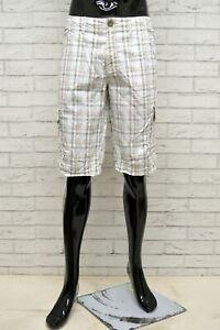 Bermuda-AVANTI-Uomo-Taglia-36-Pantaloncino-Shorts-Pantalone-Pants-Man-a-Quadri