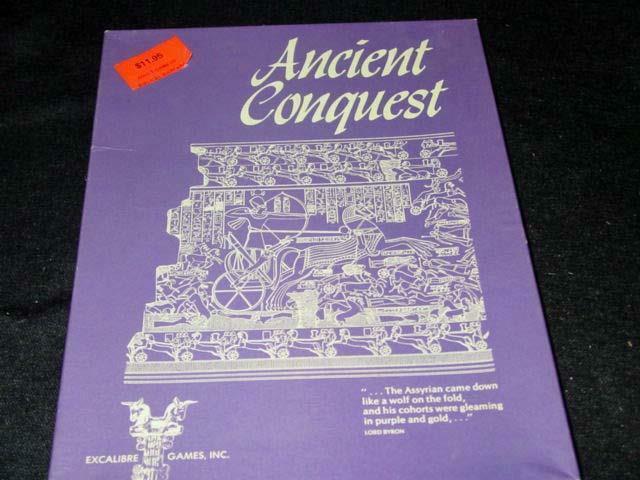 Excalibur spel 1975 - ANCIENT CONUFRU - Biblisk krigföring (PUNCHED)