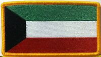 Kuwait Flag Patch With Velcro® Brand Fastener Military Police Gold Emblem 5