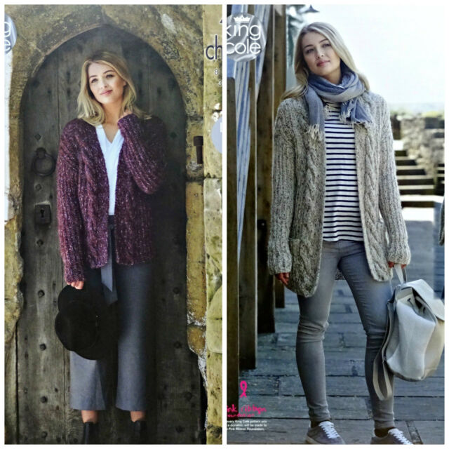 King Cole 4858 Knitting Pattern Womens Jacket and Cardigan in ...