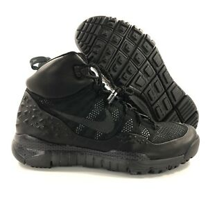 5ae0fd55392 Image is loading Nike-Lupinek-Flyknit-ACG-Black-Anthracite-Grey-Boots-