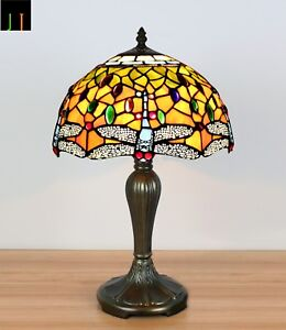 Winter-Clearance-Tiffany-Dragonfly-Stained-Glass-Art-Deco-Bedside-Lamp-Leadlight