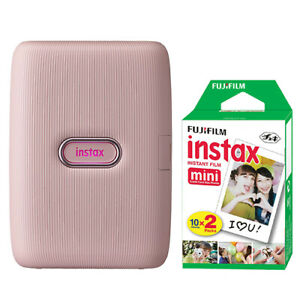 FUJIFILM INSTAX Mini Link Fuji Smartphone Printer Dusky Pink + 20 Film Sheets