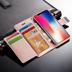 New-Luxury-Magnetic-Flip-Cover-Stand-Wallet-Leather-Case-For-Apple-iPhone-Models