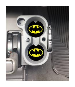 BATMAN LOGO  CUSTOM RUBBER CAR COASTERS SET 2