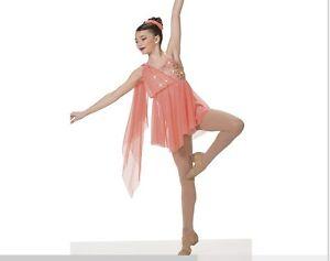 aec8e6de6 Image Is Loading IN-STOCK-Elegant-Peach-Artstone-Contemporary-Lyrical-Ballet  - Sc 1 St EBay. image number 29 of contemporary dancewear costumes ...