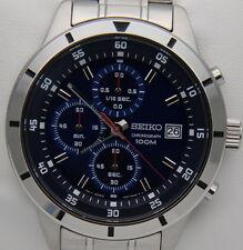 Orologio Seiko SKS559P1 Cronografo Blue Chrono Watch Nuovo con Box e Garanzia