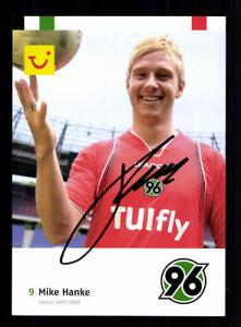 Mike Hanke Autogrammkarte Hannover 96 2007-08 Original Signiert+A 179426
