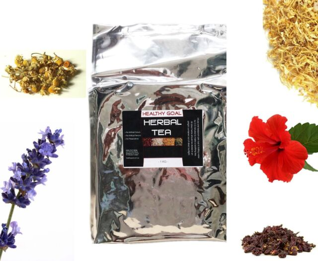 HERBAL TEA 1kg ~ Certified Organic ~ 100% Pure ~ Premium Dried Herbs Bulk