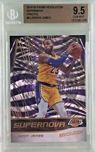Lebron-James-2019-20-Panini-Revolution-Supernova-Fractal-BGS-9-5-Gem-Mint