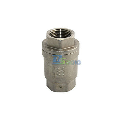 Check Valve WOG 1000 Spring Loaded In-line Stainless Steel SS316 CF8M BSPT