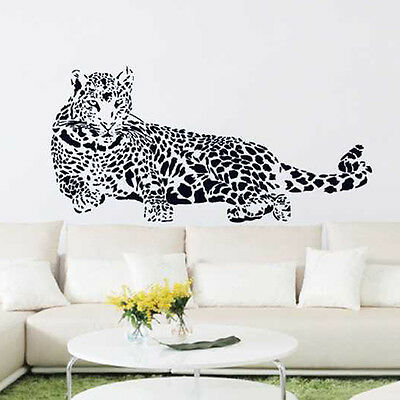 Wall Stickers Mural Decal Paper Art Decoration Leopard Animal Living Room