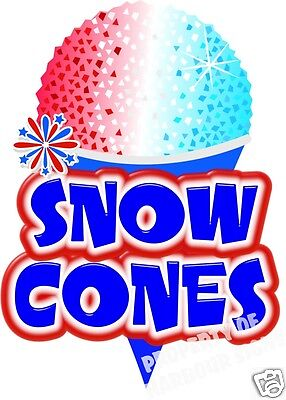 "Snow Cones Decal 14/"" x 14/"" Sno Kones Concession Trailer Cart Food Truck Sticker"