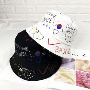 d1a8b452c55c9a EG_ Graffiti Folding Fisherman Hat Outdoor Men Women Hip Hop Bucket ...