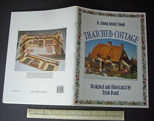 Thatched-Cottage-Card-Cut-Out-Model-Book-1986-Vintage-Trish-Rand-Design