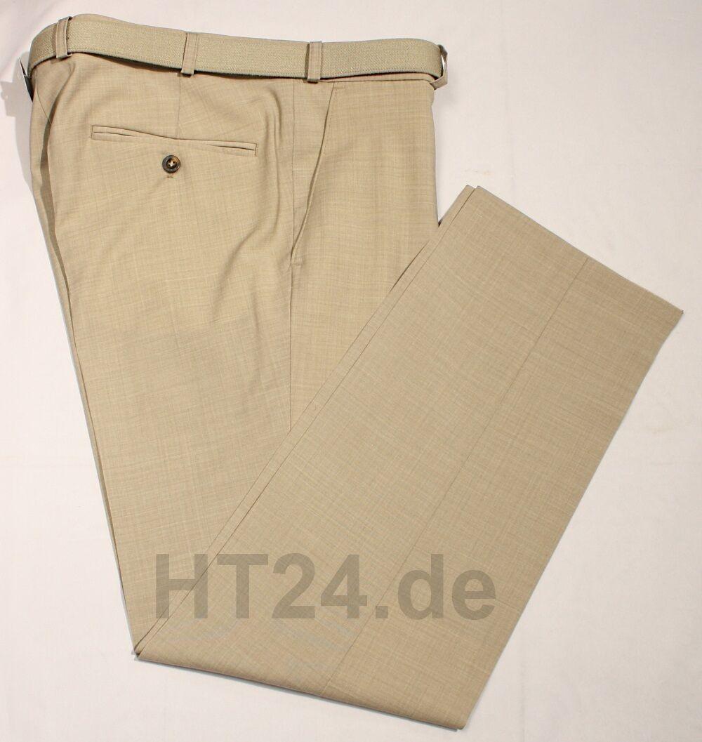 M.E.N.S. MENS Herren Anzughose Madrid 2400 beige Gr. 24U bis 35U leicht