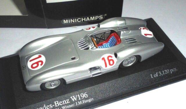 car 1/43 MINICHAMPS 432543016 MERCEDES W196 #16 WINNER ITALIA'54 FANGIO NEW BOX