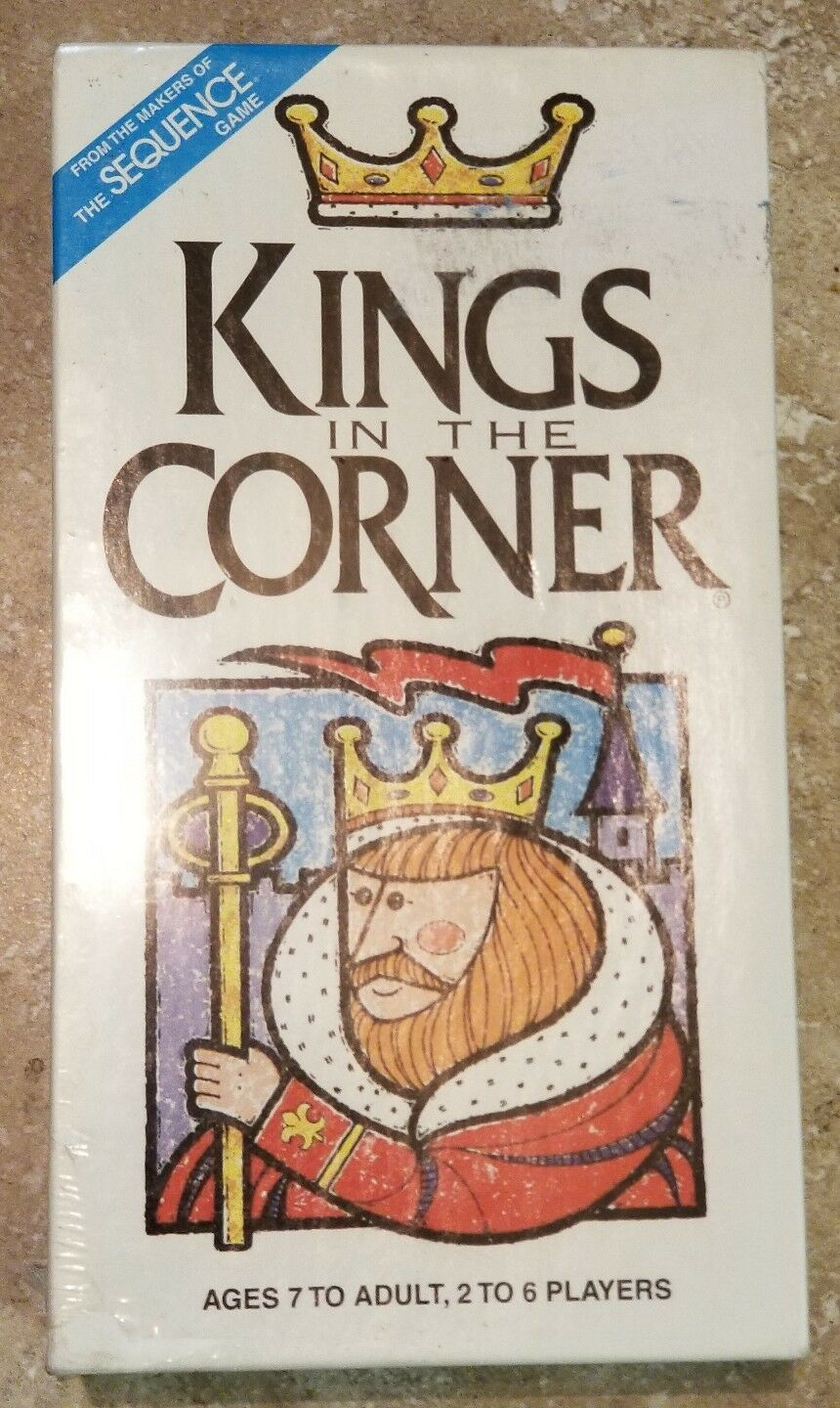 Kings in The Corner New Game  New Corner Sealed 1996 Adult & Family Strategy Fun Vintage c61838