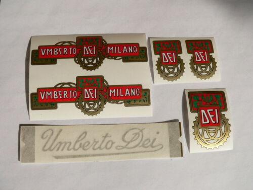 serie adesivi UMBERTO DEI per bici vintage