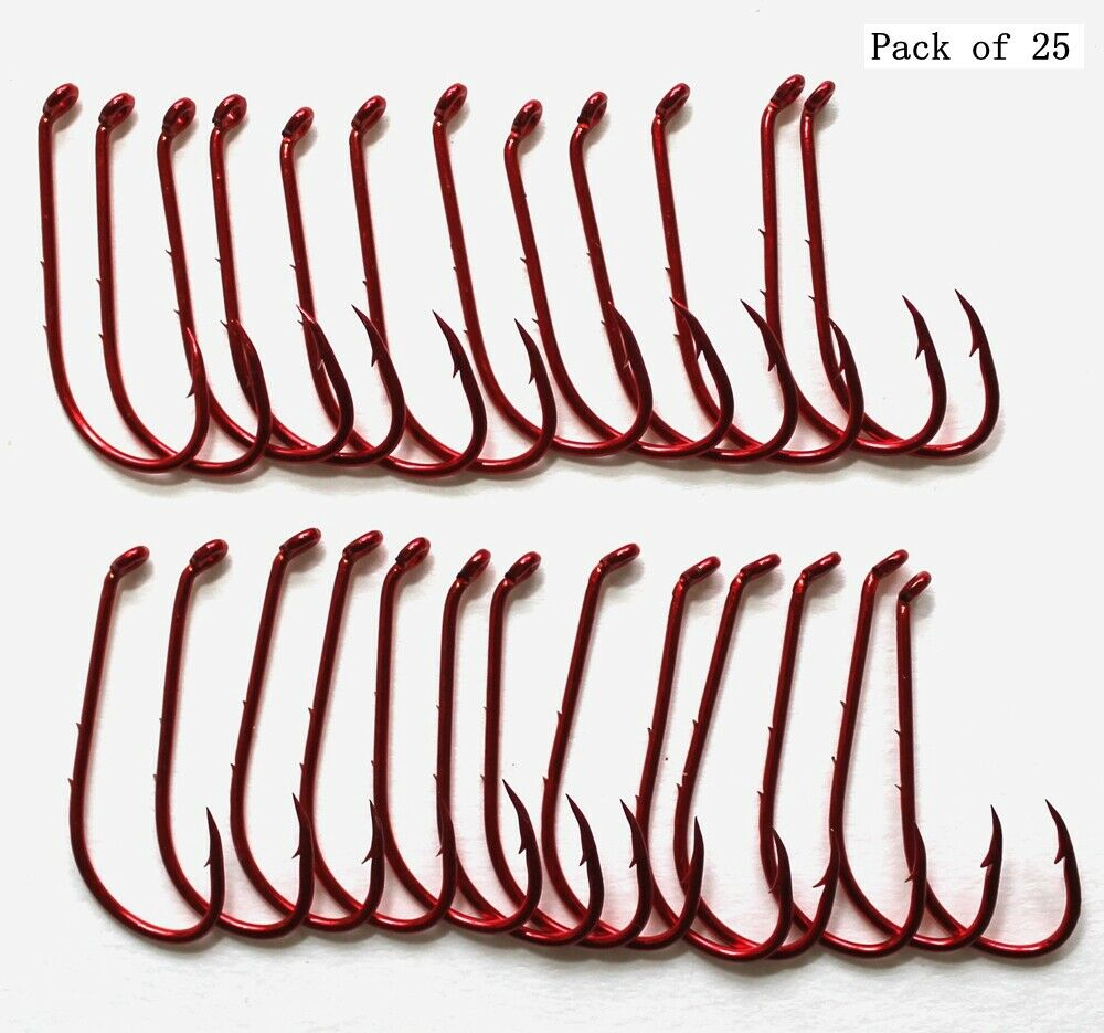 Mustad Classic Baitholder Beak Hook Long Shank 92641-BR Fishing Hook 50 Pack