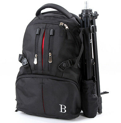 Travel Camera Backpack Nylon Case Bag For DSLR Canon Nikon Sony+Rain cover