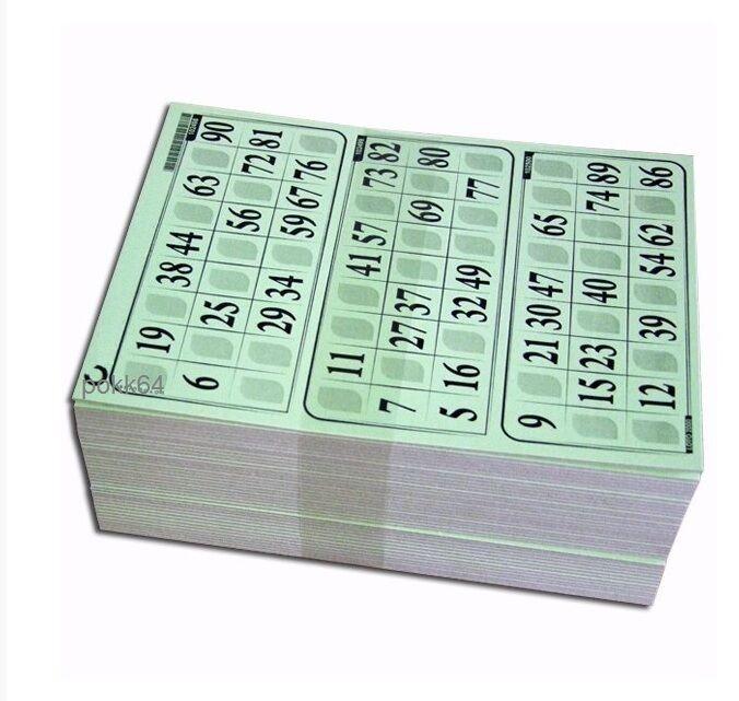 1000 Cartons Loto RIGIDE 1 mm en 333 PLAQUES DE 3 grilles toutes différentes