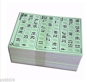 1000 Cartons Loto RIGIDE 1 mm en 333 PLAQUES DE 3 grilles toutes differentes
