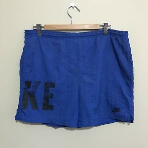 Nike-Sportswear-Vintage-90-039-s-Running-Shorts-Blue-Mens-Small