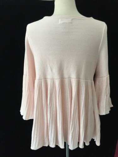 Sweater Boho M Specialty Studio Pink Products Max Top Accordian 8nSAxqnF