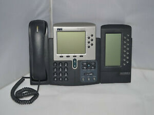 Details about ✔️☎️ WORKING CISCO UNIFIED IP PHONE 7960G WITH 7914 MODULE  SIP FIRMWARE - NO PSU