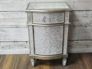Details About Mirrored Bedside Table Cabinets Drawers Le Gl Venetian Tables