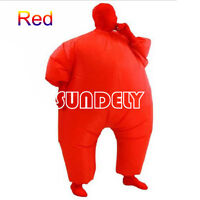 UK HI-Q Inflatable Fat Chub Suit Second Skin Fancy Dress Party Costume RED